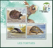 Madagascar 2017 Animal Protection Turtles Miniature Sheet Set Of 3 Values