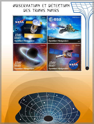 Madagascar 2019 Black Holes Miniature Sheet Set Of 4 Values