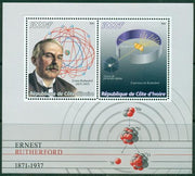 Ivory Coast 2016 Miniature Sheet Ernest Rutherford 2 Values