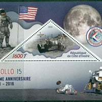 Ivory Coast 2016 souvenir sheet Apollo 15