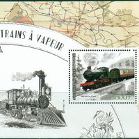 Ivory Coast 2017 souvenir sheet Steam Trains City of Truro