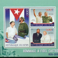 Benin 2016 miniature sheet Fidel Castro in Memoriam 3 values