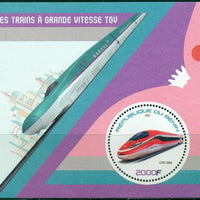 Benin 2017 souvenir sheet Trains TGV