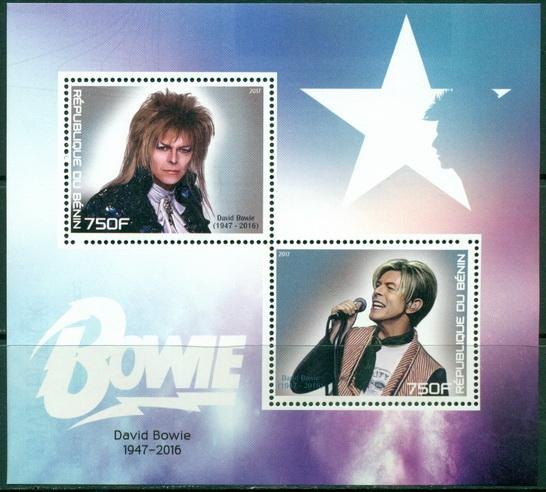 Benin 2017 miniature sheet David Bowie 2 values
