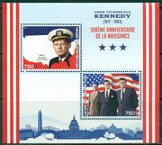 Benin 2017 miniature sheet JF Kennedy 100th birth anniversary 2 values