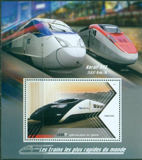 Benin 2018 Souvenir Sheet Speed Trains Of The World #5