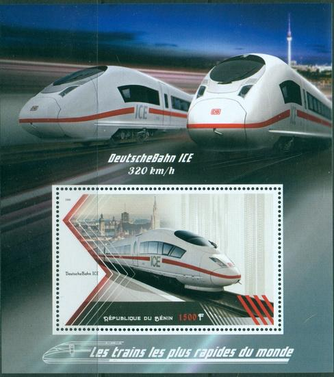 Benin 2018 Souvenir Sheet Speed Trains Of The World #9
