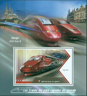 Benin 2018 Souvenir Sheet Speed Trains Of The World #10
