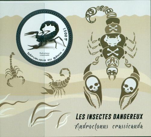 Benin 2018 Souvenir Sheet Dangerous Insects Scorpions