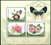 Madagascar 2016 Flowers Butterflies Miniature Sheet