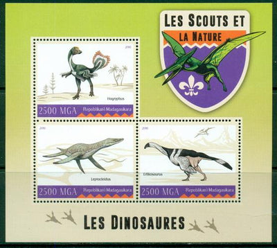 Madagascar 2016 Dinosaurs Miniature Sheet