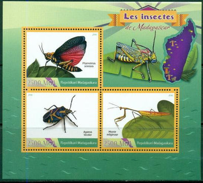 Madagascar 2016 Insects Miniature Sheet
