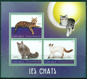 Madagascar 2016 Cats Miniature Sheet