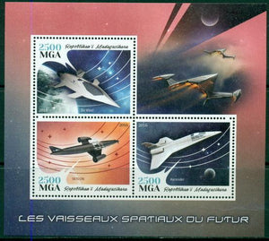 Madagascar 2016 Space Ships Of The Future Miniature Sheet