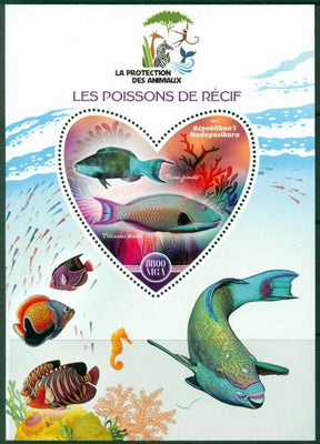 Madagascar 2017 Reef Fish Souvenir Sheet