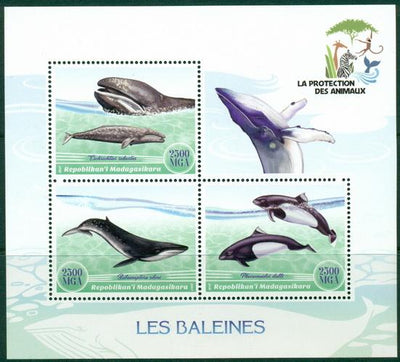 Madagascar 2017 Whales Miniature Sheet