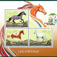 Madagascar 2017 Horses Miniature Sheet