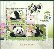 Madagascar 2017 Pandas Miniature Sheet