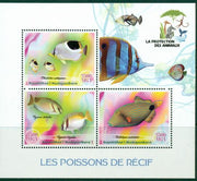 Madagascar 2017 Reef Fish Miniature Sheet