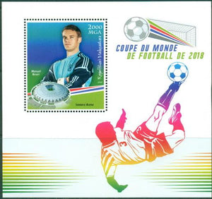 MADAGASCAR 2018 World Cup Football 2018 #4 souvenir sheet
