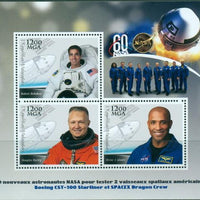 MADAGASCAR 2018 Astronauts Boeing CST-100 Starliner SPACEX #1 miniature sheet