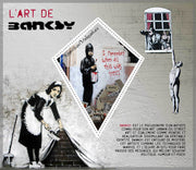 MADAGASCAR 2018 The art of Banksy souvenir sheet MNH