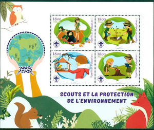 MADAGASCAR 2018 Scouts Protection of the environment miniature sheet