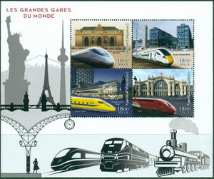 MADAGASCAR 2018 Great Railway Stations of the World miniature sheet