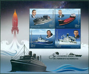 MADAGASCAR 2018 ships named after astronauts miniature sheet