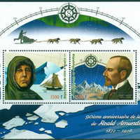 Ivory Coast 2018 miniature sheet 90th death anniversary Roald Amundsen 2 values