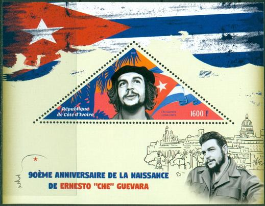 Ivory Coast 2018 souvenir sheet 90th Anniversary birth Che Guevara