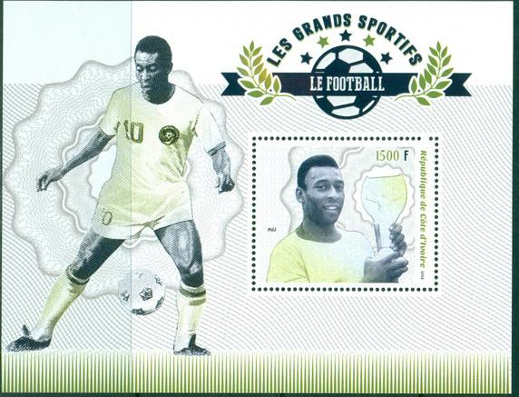 Ivory Coast 2018 souvenir sheet Football Pele
