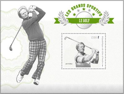 Ivory Coast 2018 souvenir sheet Golf Jack Nicklaus