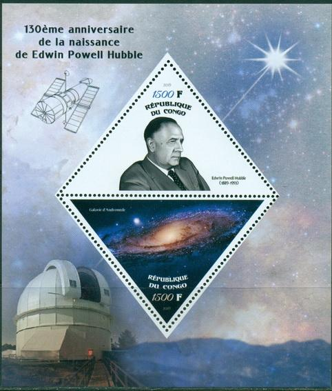 Congo 2019 Edwin Hubble 130th birth anniversary MS 2 values