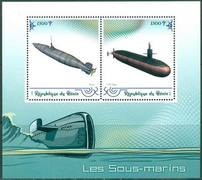 Benin 2019 Submarines MS 2 values