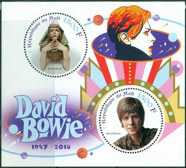Mali 2017 miniature sheet David Bowie In Memoriam 2 values