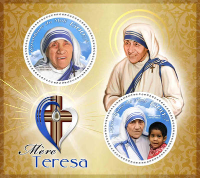 Mali 2018 miniature sheet Mother Teresa 2 values