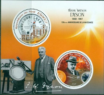 Mali 2018 miniature sheet 150th birth anniversary Frank Watson Dyson 2 values
