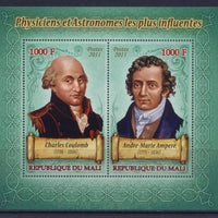 Mali 2011 Miniature Sheet Astronomers And Physisists #5 2 Values