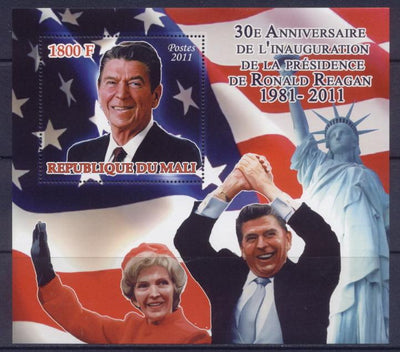 Mali 2011 Souvenir Sheet 30Th Anniversary Inauguration President Ronald Regan