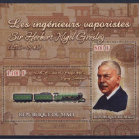 Mali 2011 Miniature Sheet Steam Engineers Nigel Gresley 2 Values