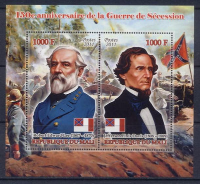 Mali 2011 Miniature Sheet 2 Values 150Th Anniversary American Civil War #1