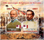 Mali 2011 Miniature Sheet 2 Values 150Th Anniversary American Civil War #2