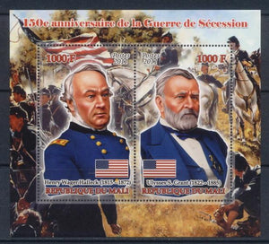 Mali 2011 Miniature Sheet 2 Values 150Th Anniversary American Civil War #3