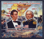 Mali 2011 Miniature Sheet 2 Values 150Th Anniv American Civil War #4