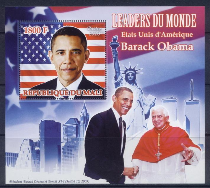 Mali 2010 Souvenir Sheet Leaders Of The World Barack Obama Usa