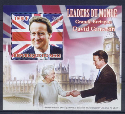 Mali 2010 Souvenir Sheet Leaders Of The World David Cameron Great Britain