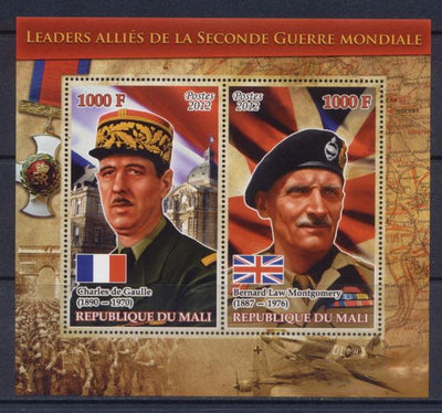Mali 2012 Miniature Sheet Leaders Of The Second World War 2 Values #3