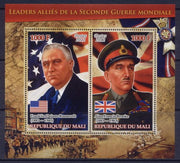 Mali 2012 Miniature Sheet Leaders Of The Second World War 2 Values #4