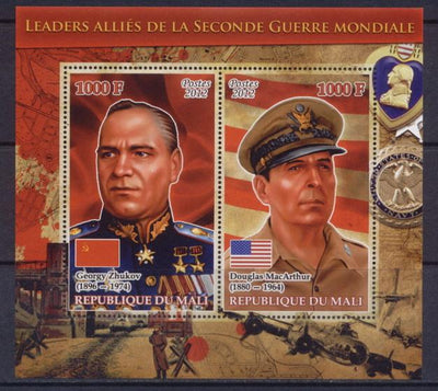 Mali 2012 Miniature Sheet Leaders Of The Second World War 2 Values #5